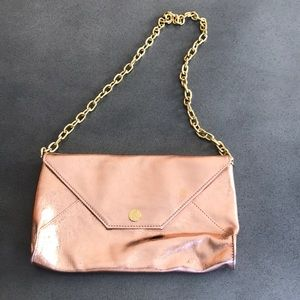 Guess by Marciano rose gold small chain bag